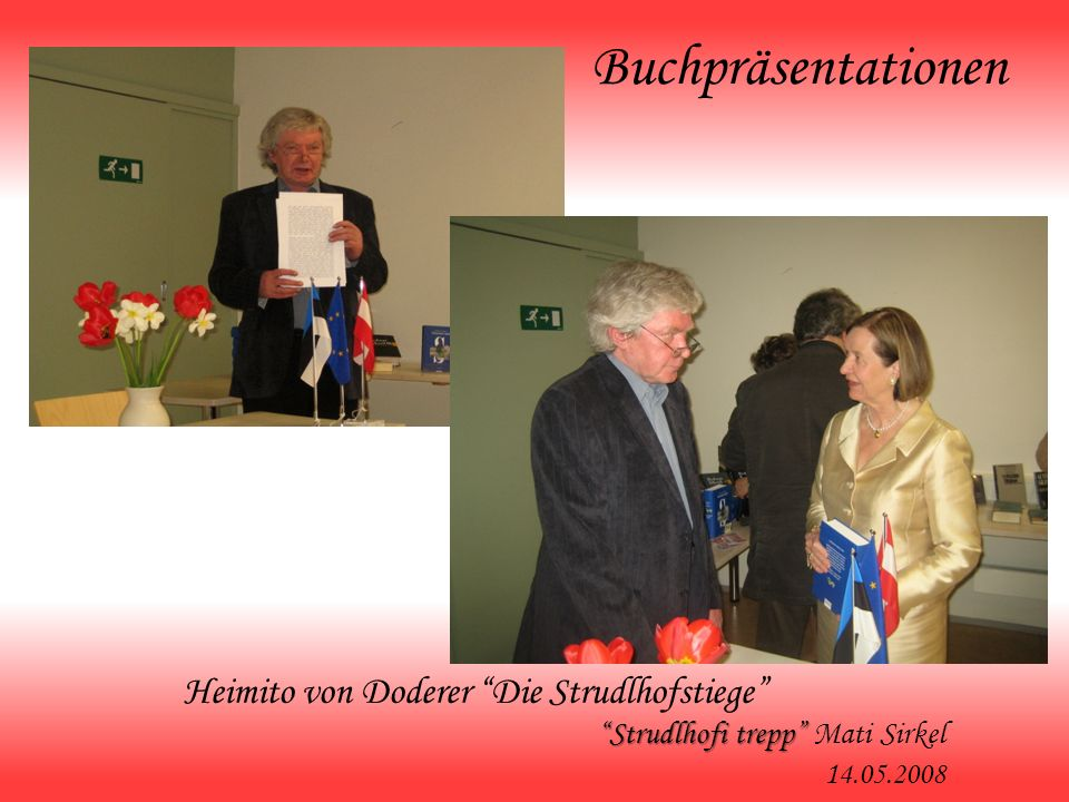 Buchpräsentationen Heimito von Doderer Die Strudlhofstiege