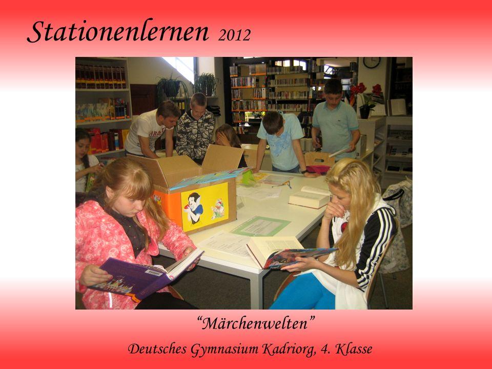 Stationenlernen 2012 Märchenwelten