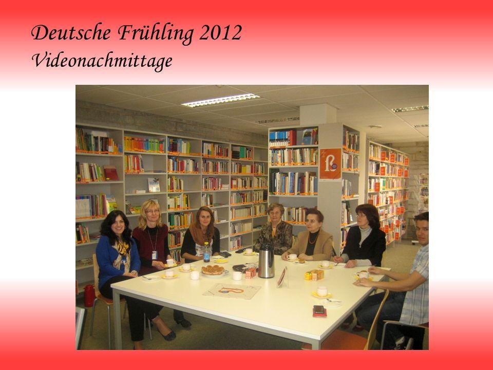 Deutsche Frühling 2012 Videonachmittage