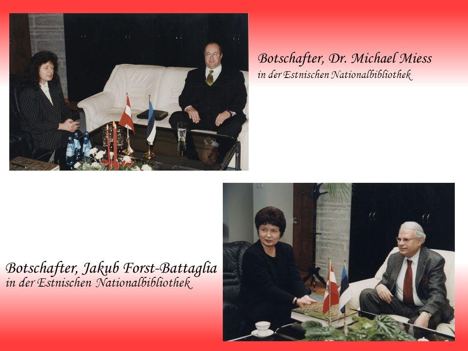 Botschafter, Dr. Michael Miess in der Estnischen Nationalbibliothek