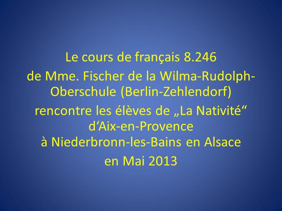 Le cours de français 8. 246 de Mme