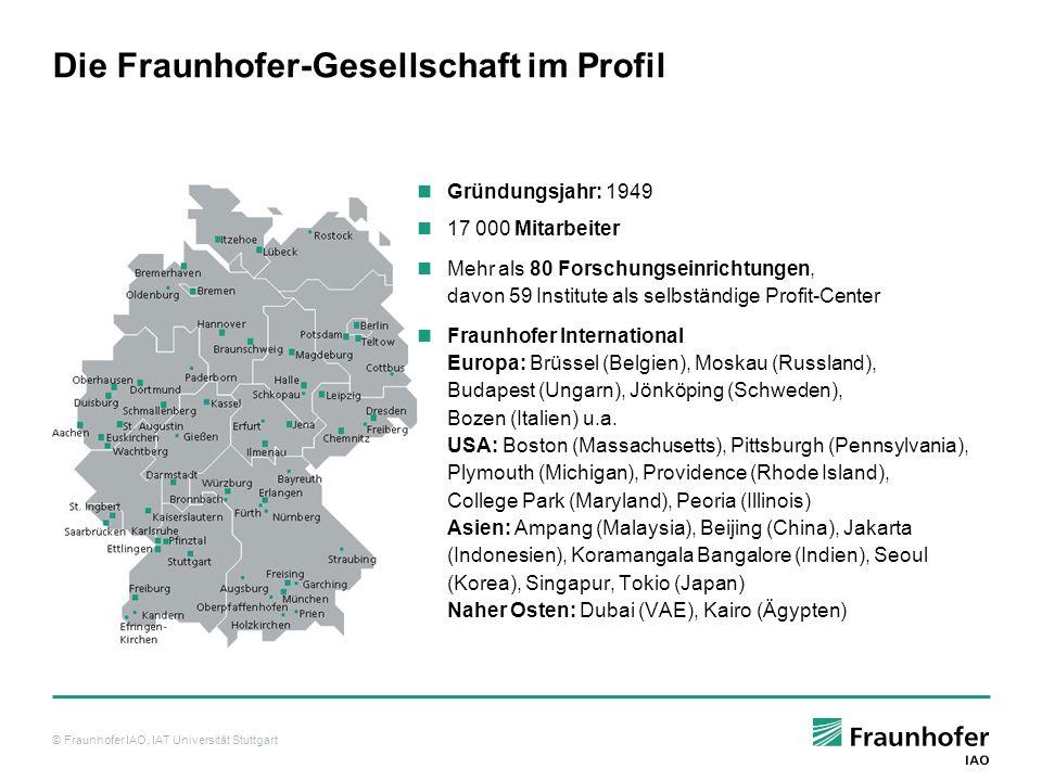 Die Fraunhofer-Gesellschaft im Profil