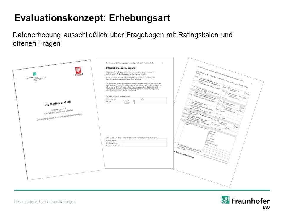 Evaluationskonzept: Erhebungsart