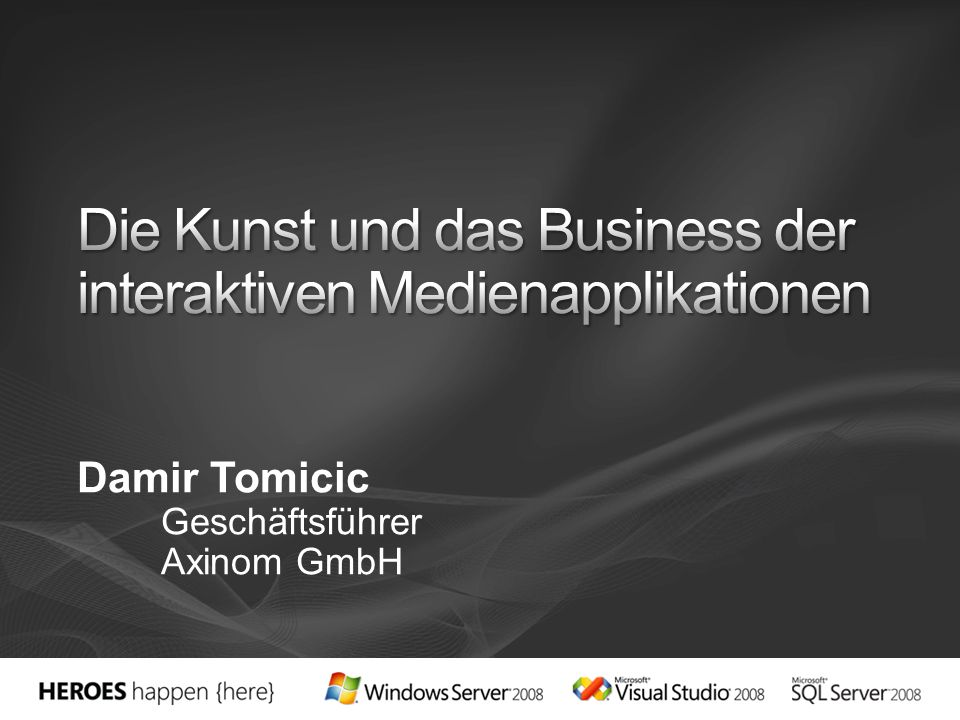Die Kunst und das Business der interaktiven Medienapplikationen
