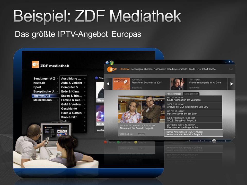 Beispiel: ZDF Mediathek