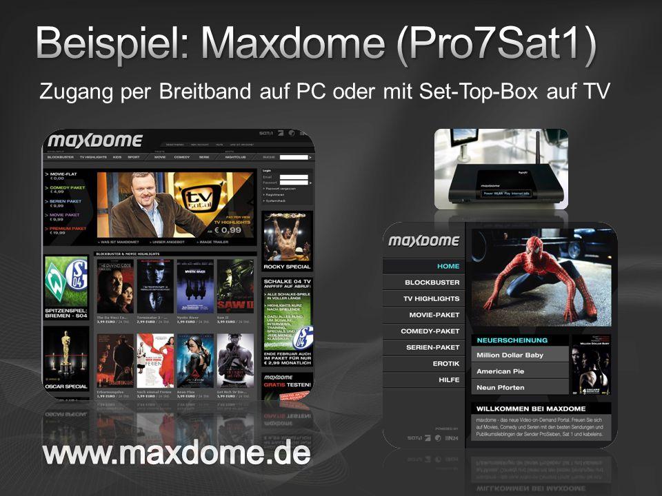 Beispiel: Maxdome (Pro7Sat1)