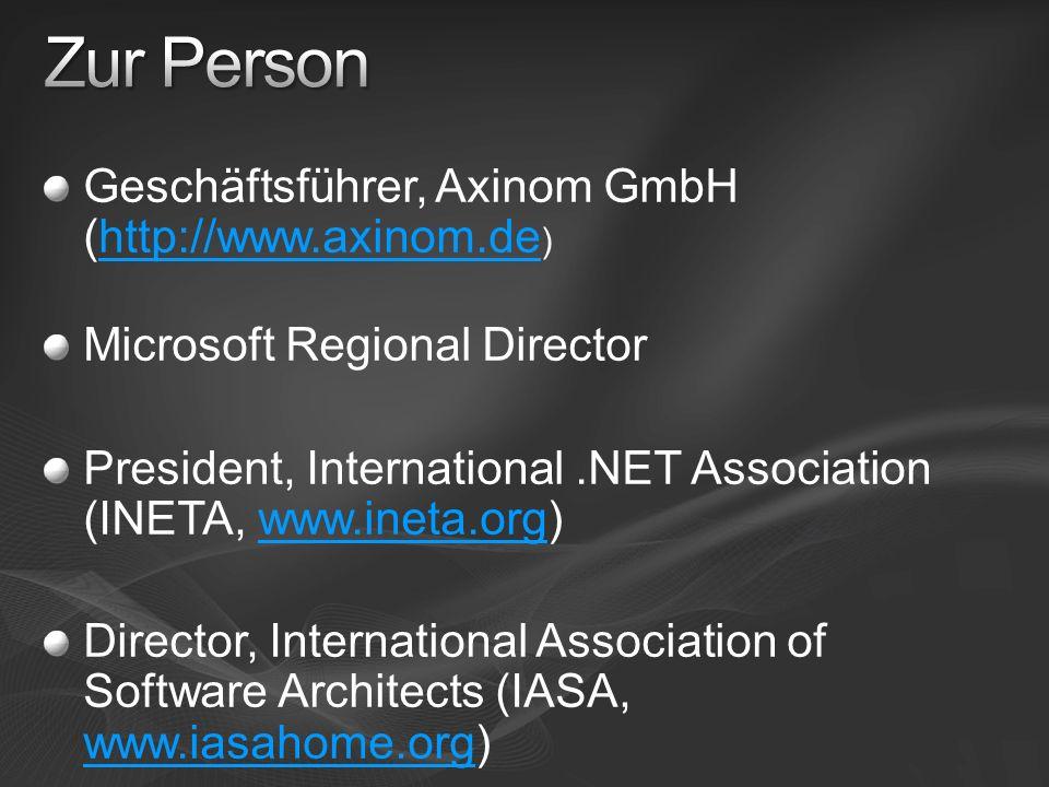 Zur Person Geschäftsführer, Axinom GmbH (http://www.axinom.de)