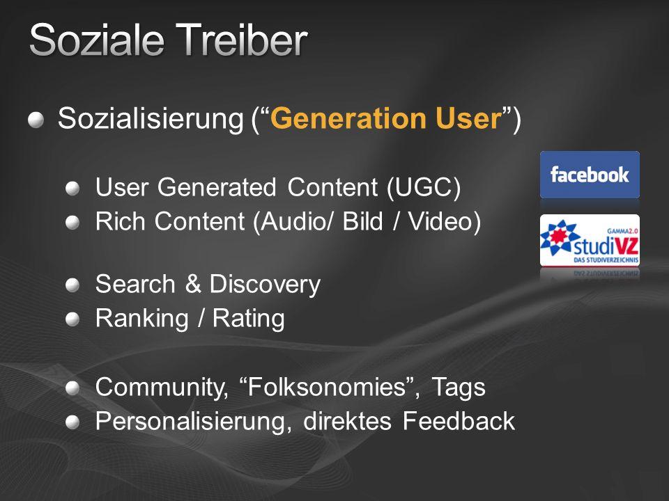 Soziale Treiber Sozialisierung ( Generation User )