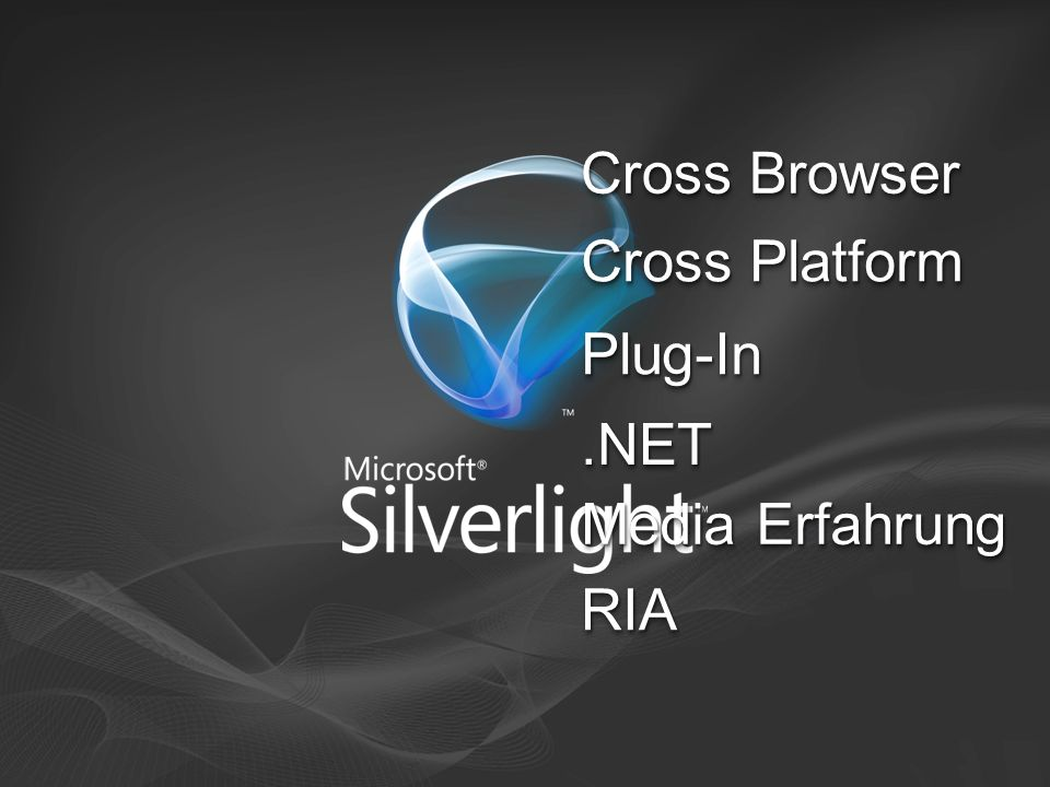 Cross Browser Cross Platform Plug-In .NET Media Erfahrung RIA