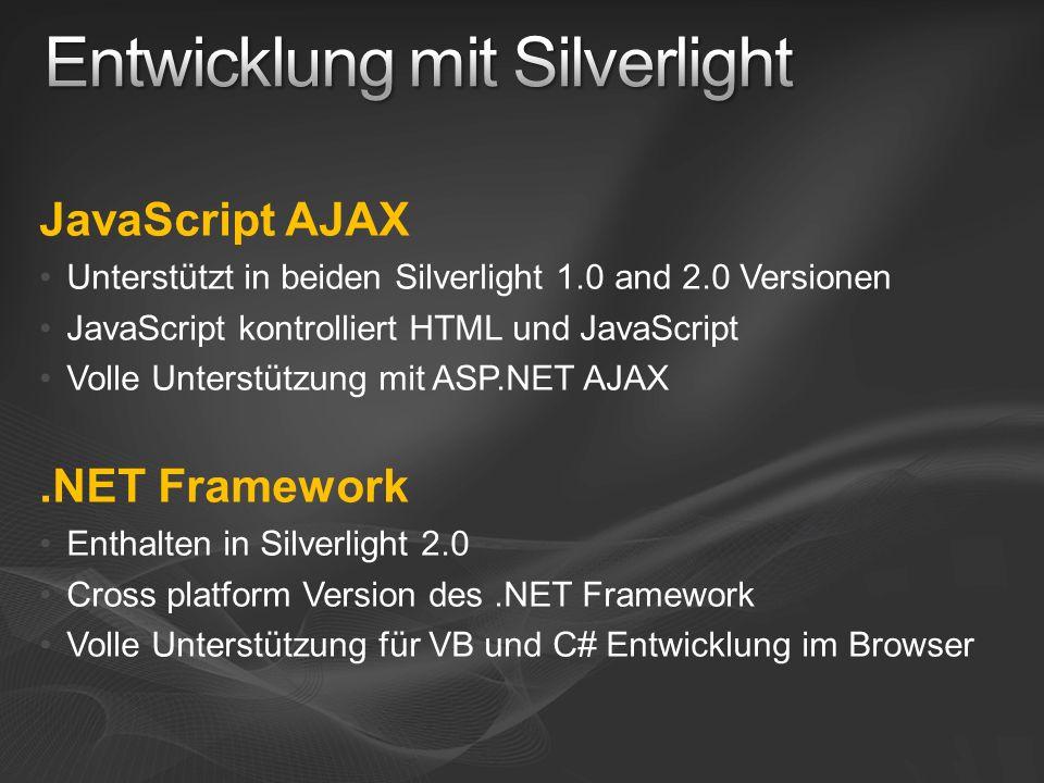 Entwicklung mit Silverlight