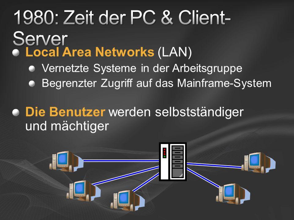 1980: Zeit der PC & Client-Server