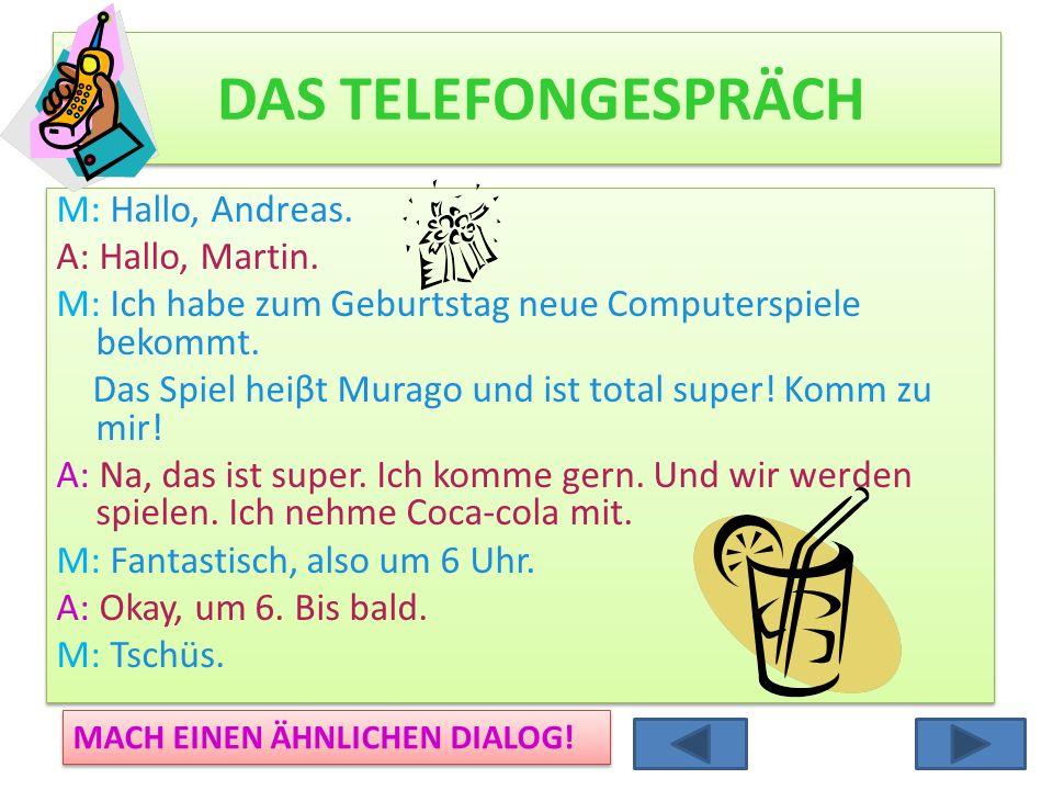 DAS TELEFONGESPRÄCH