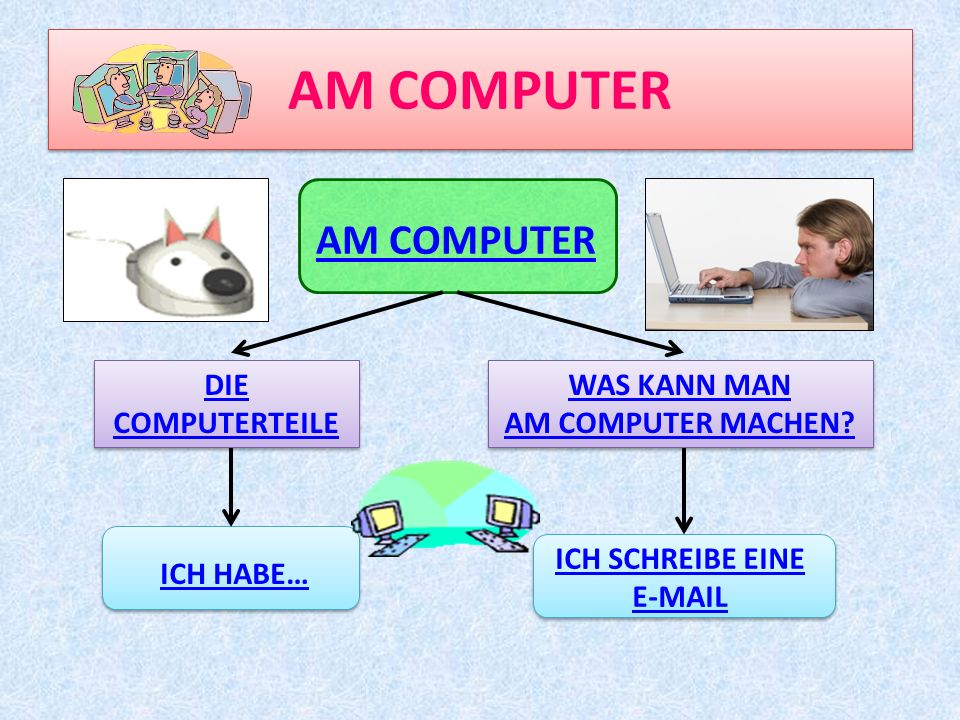 AM COMPUTER AM COMPUTER DIE COMPUTERTEILE WAS KANN MAN