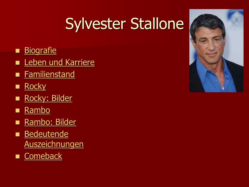 Sylvester Stallone Biografie Leben und Karriere Familienstand Rocky
