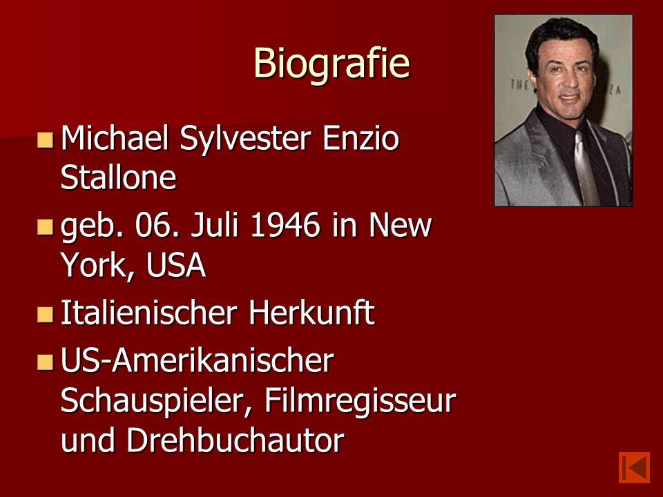 Biografie Michael Sylvester Enzio Stallone