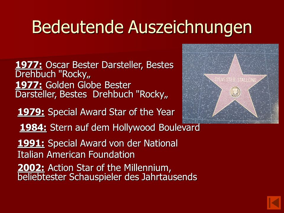 Bedeutende Auszeichnungen