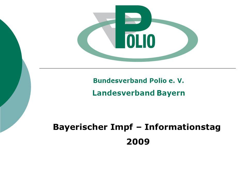 Bundesverband Polio e. V. Bayerischer Impf – Informationstag