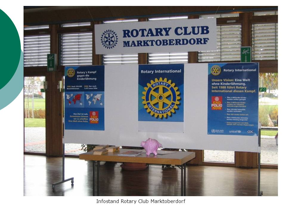 Infostand Rotary Club Marktoberdorf