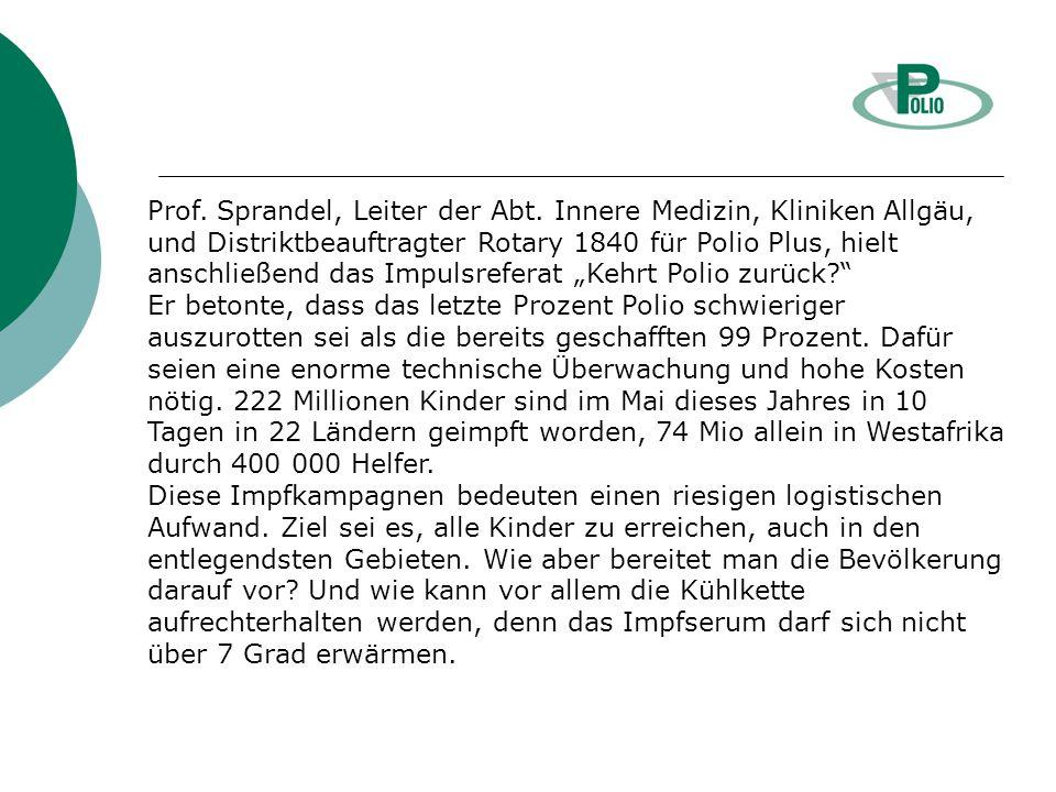 Prof. Sprandel, Leiter der Abt