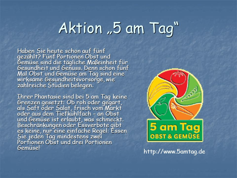 "Aktion ""5 am Tag"