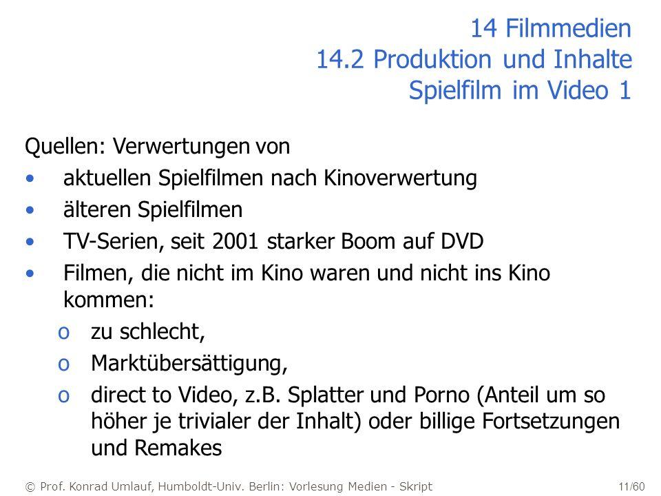 14 Filmmedien 14.2 Produktion und Inhalte Spielfilm im Video 1