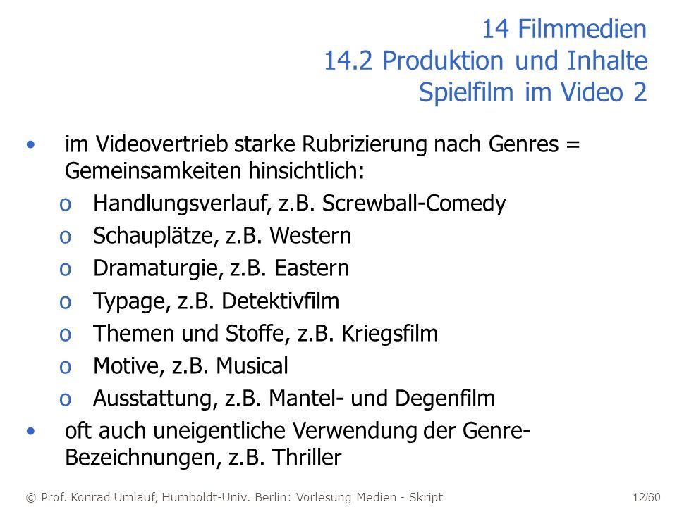 14 Filmmedien 14.2 Produktion und Inhalte Spielfilm im Video 2