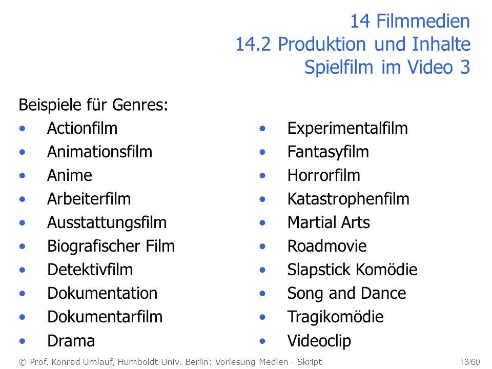 14 Filmmedien 14.2 Produktion und Inhalte Spielfilm im Video 3
