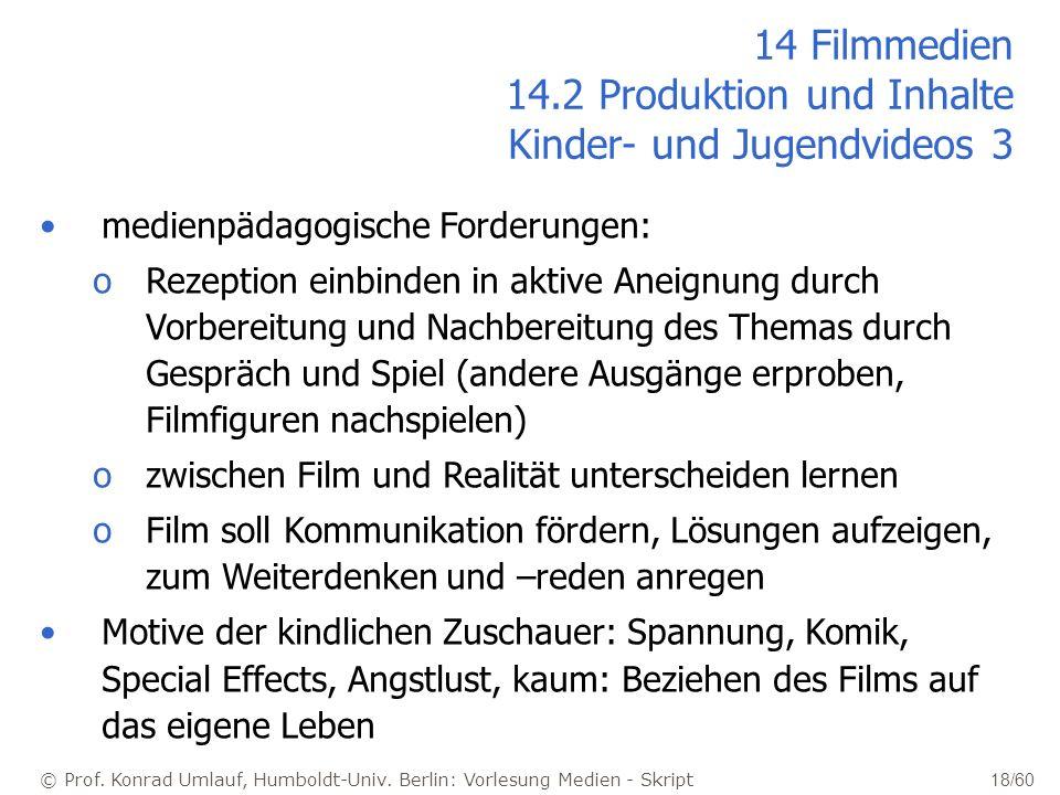 14 Filmmedien 14.2 Produktion und Inhalte Kinder- und Jugendvideos 3