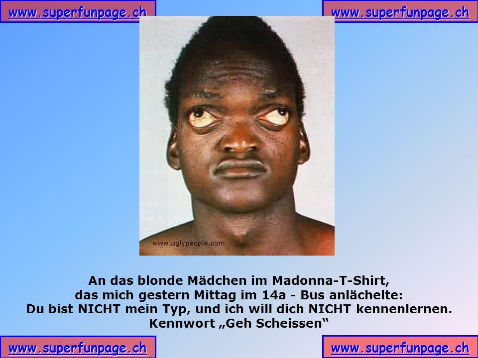 An das blonde Mädchen im Madonna-T-Shirt,