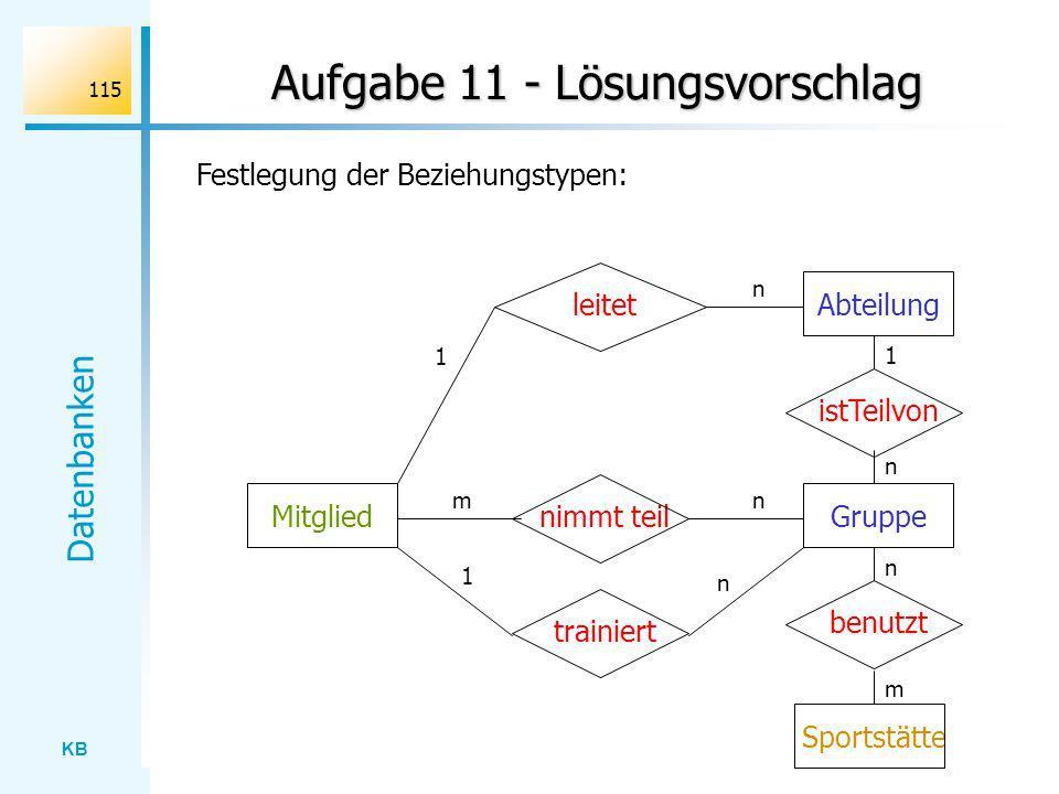 Aufgabe 11 - Lösungsvorschlag