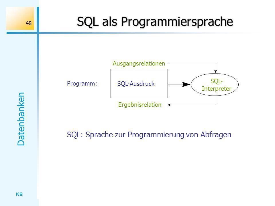 SQL als Programmiersprache