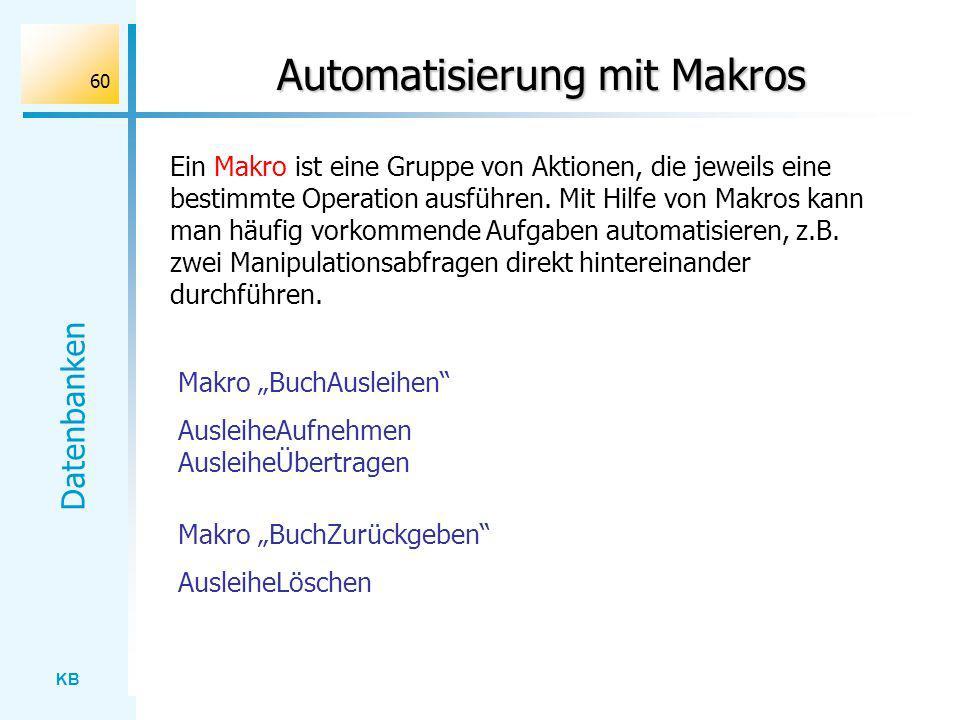 Automatisierung mit Makros