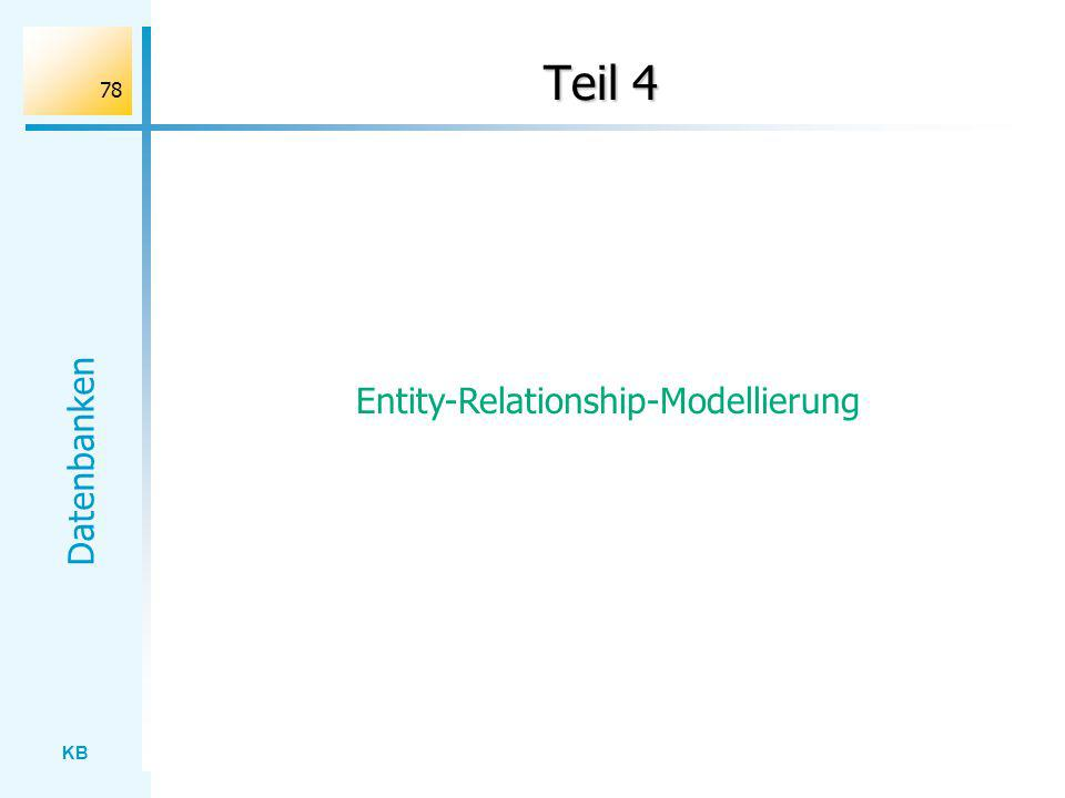 Entity-Relationship-Modellierung