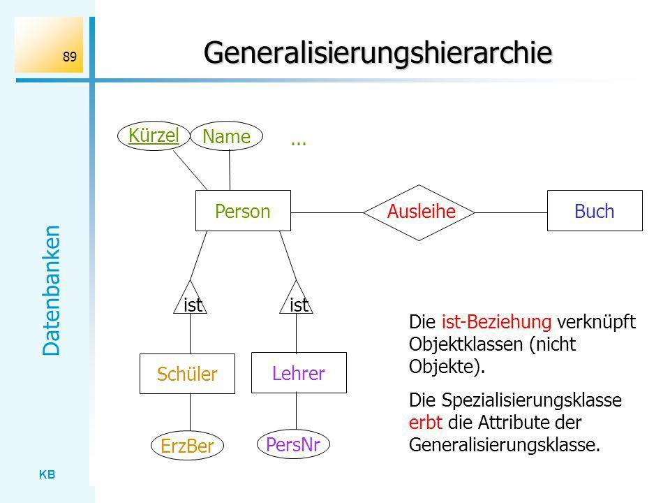 Generalisierungshierarchie