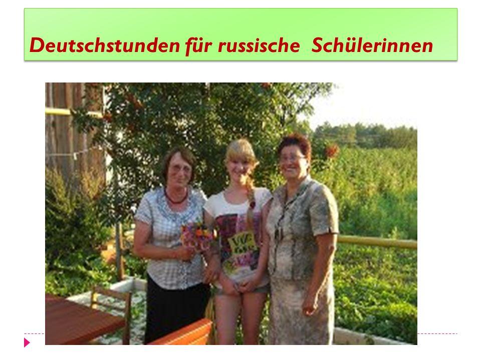 Deutschstunden für russische Schülerinnen