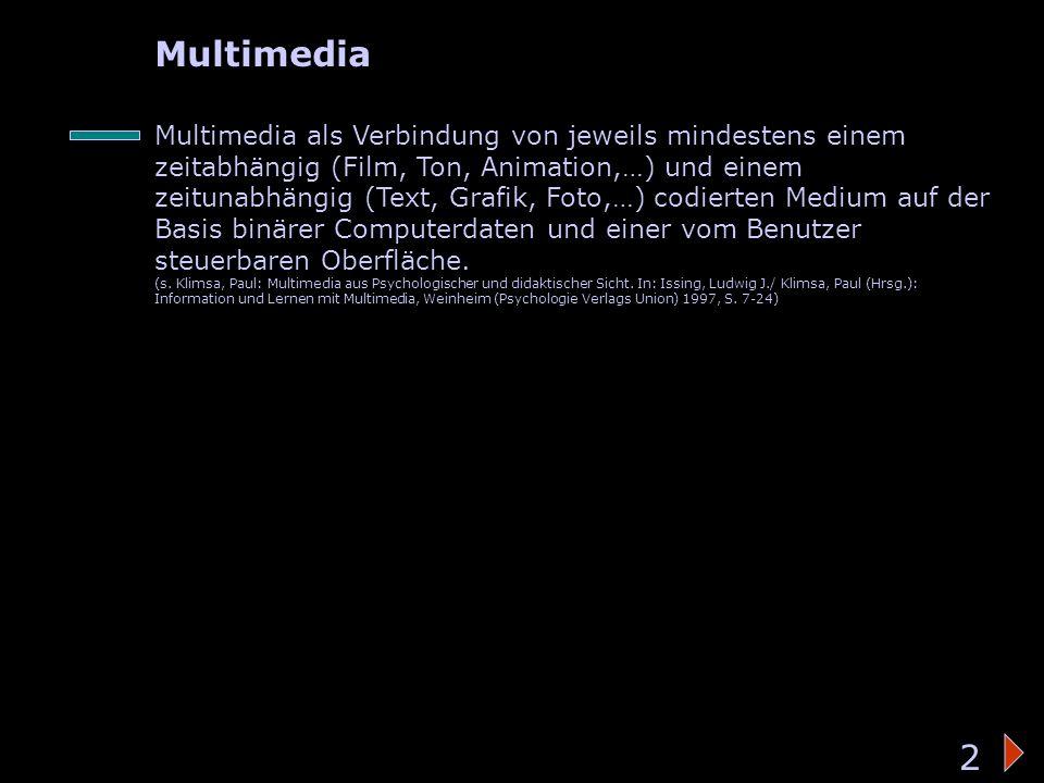 Bedeutung des Wortes 2 Multimedia 2