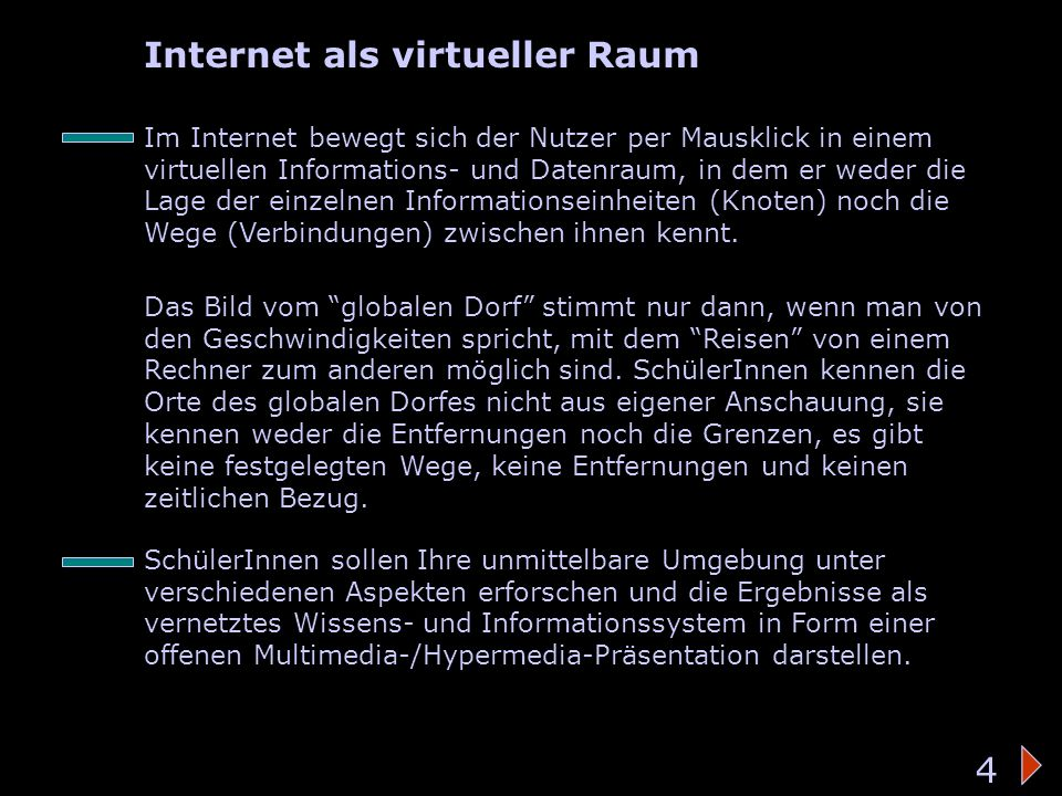 Virtueller Raum Internet als virtueller Raum 4