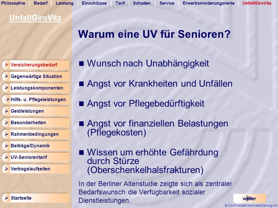 Warum eine UV für Senioren