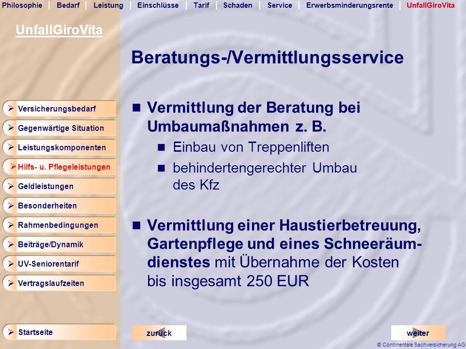 Beratungs-/Vermittlungsservice
