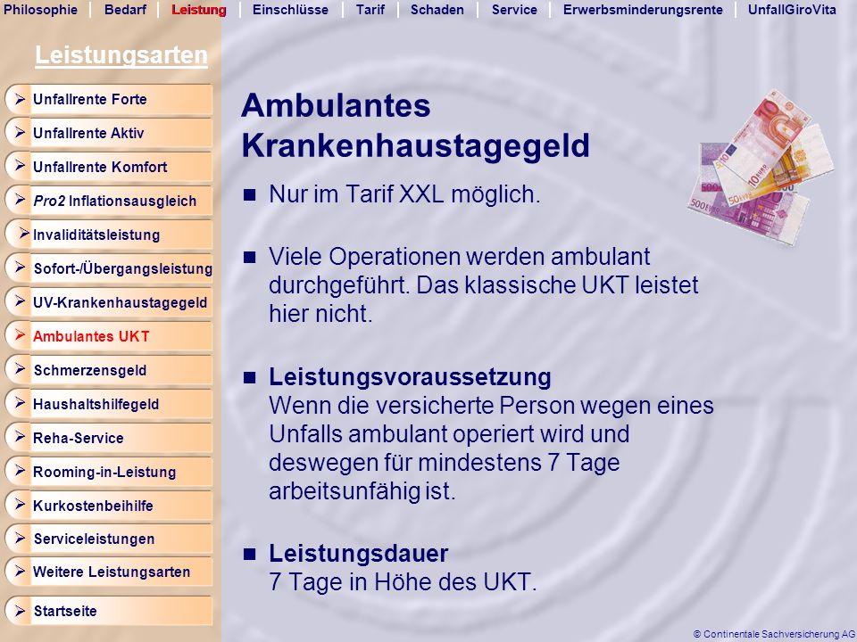 Ambulantes Krankenhaustagegeld