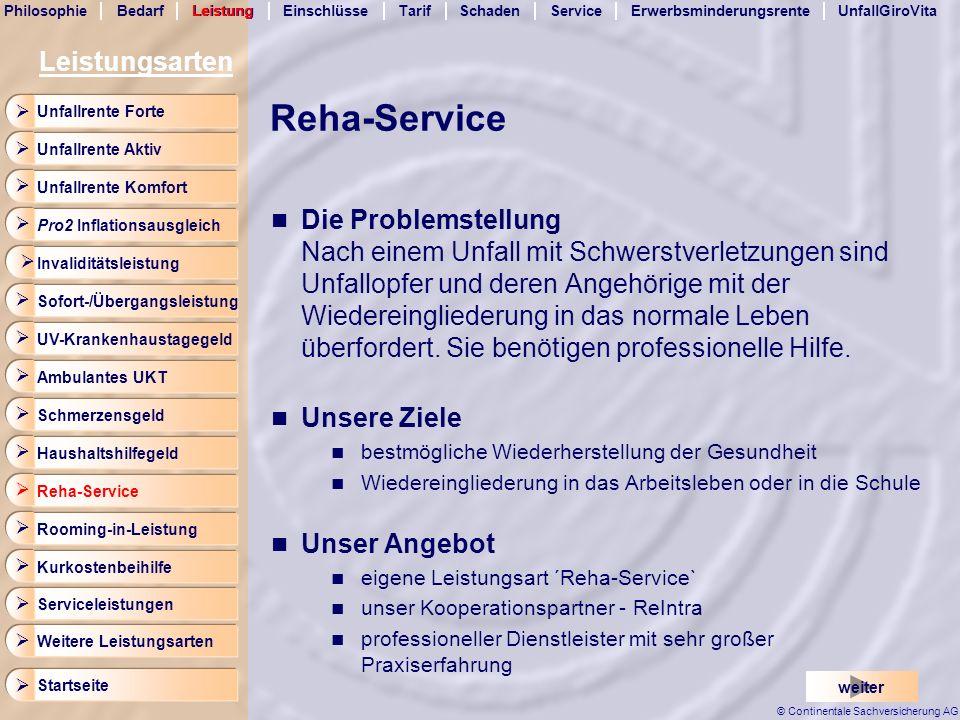 Reha-Service Leistungsarten