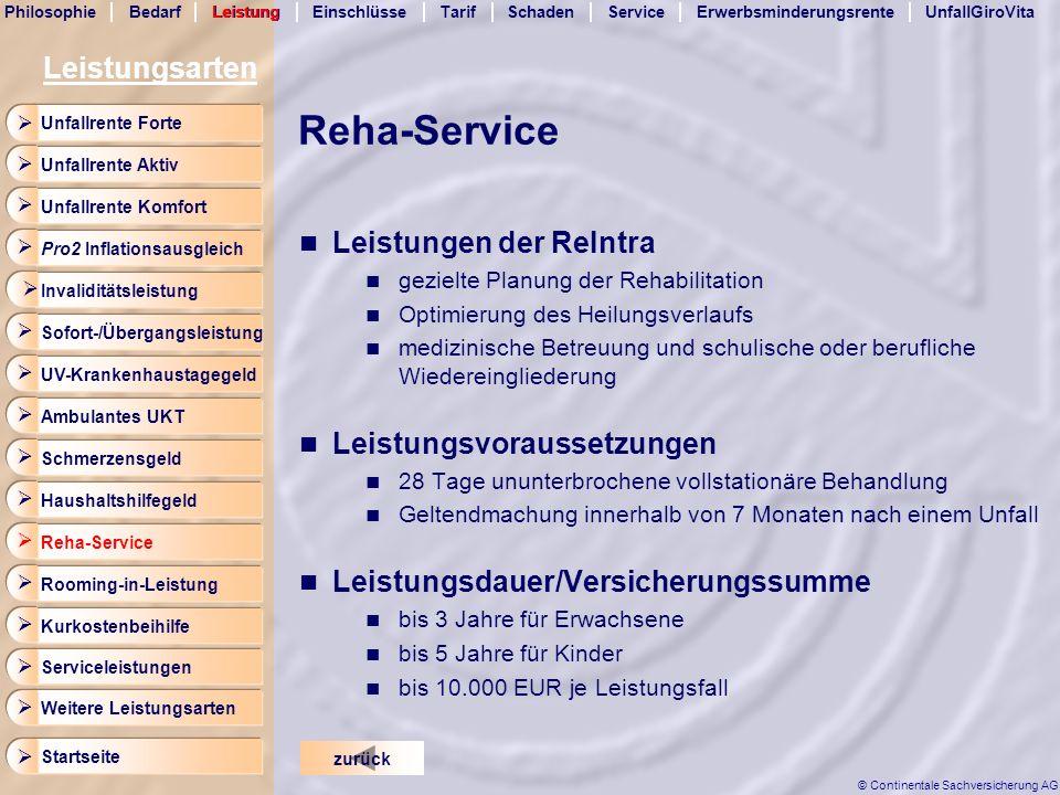 Reha-Service Leistungsarten Leistungen der ReIntra