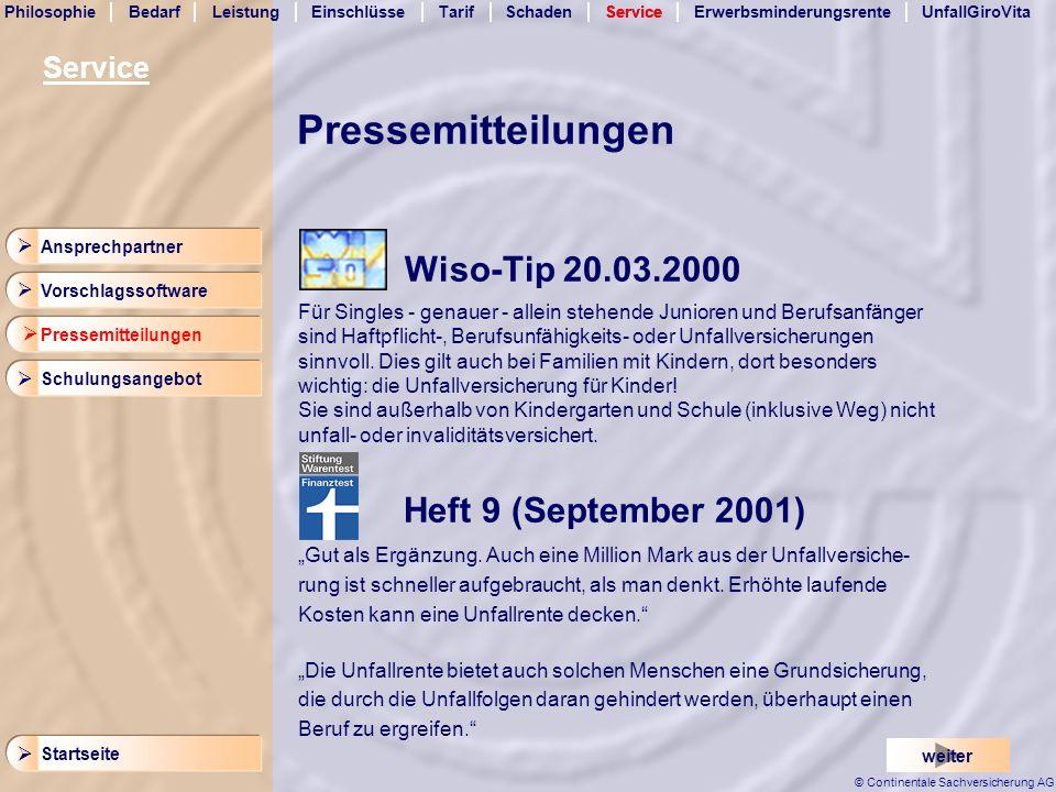 Pressemitteilungen Wiso-Tip 20.03.2000 Service 