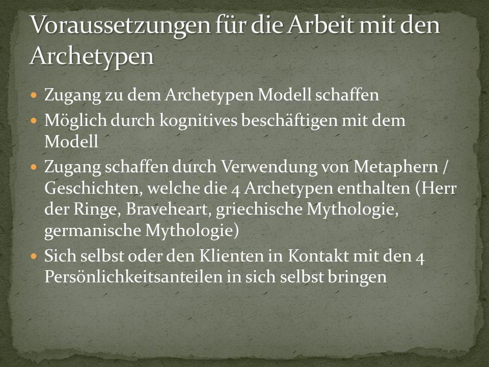 Voraussetzungen für die Arbeit mit den Archetypen