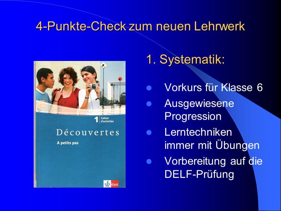 4-Punkte-Check zum neuen Lehrwerk