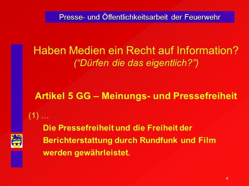 Artikel 5 GG – Meinungs- und Pressefreiheit