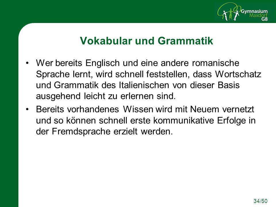 Vokabular und Grammatik