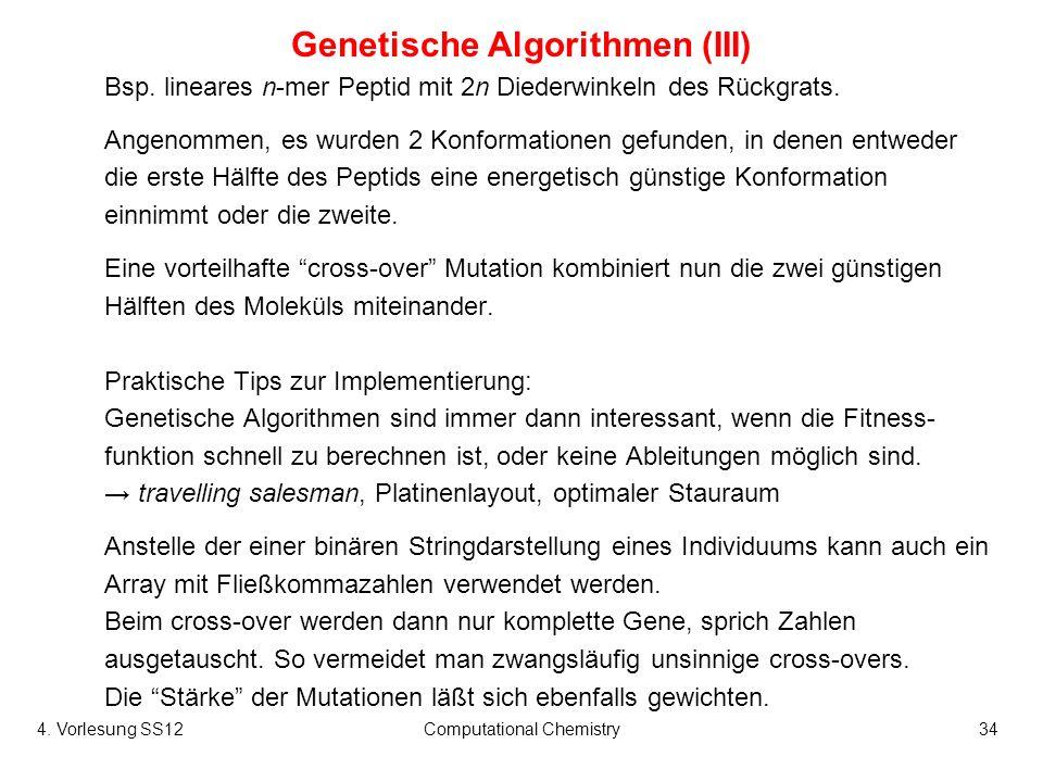 Genetische Algorithmen (III)