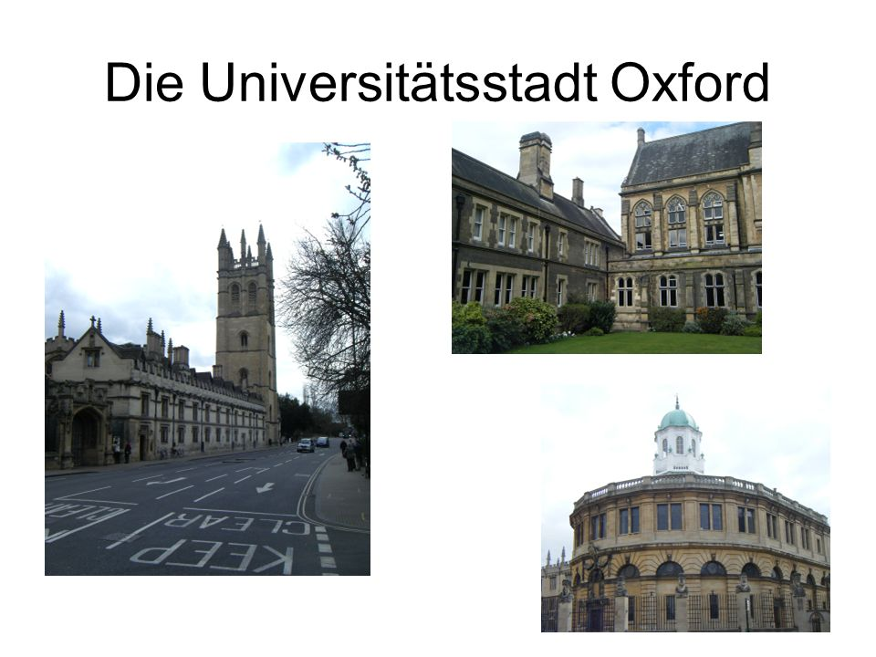 Die Universitätsstadt Oxford