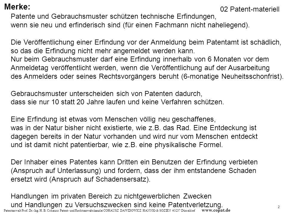Merke: 02 Patent-materiell